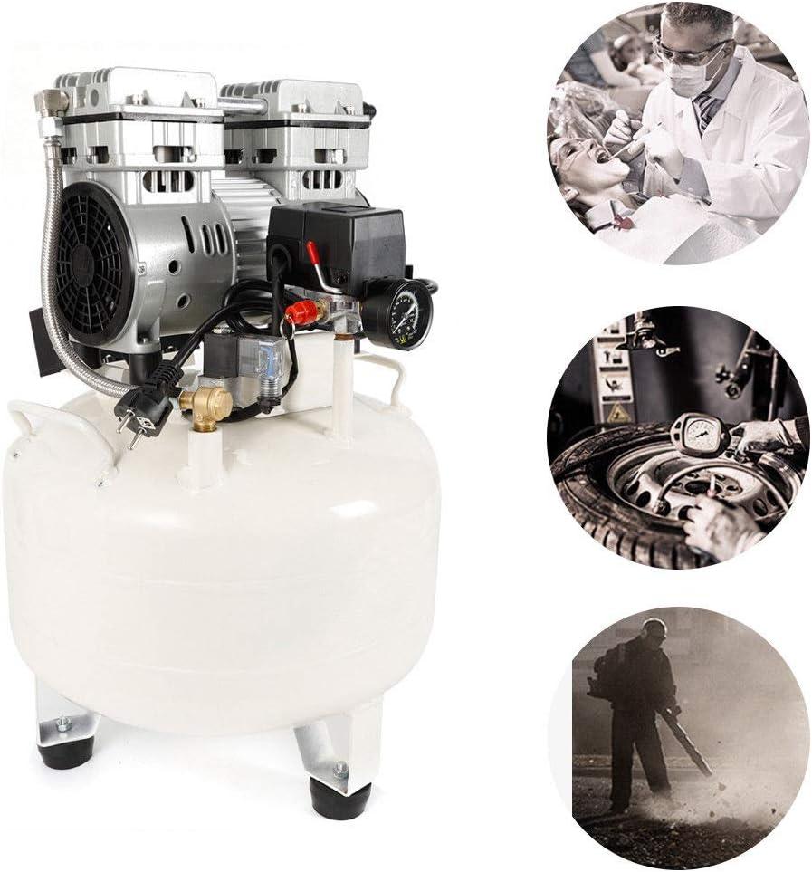 35L 850W Precisión Clínica Médica Dental Compresor Aire sin Aceite Silencioso: Amazon.es: Bricolaje y herramientas