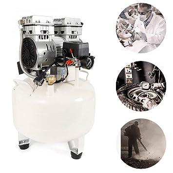 Compresor de aire comprimido de SenderPick, 850 W, 35 l, sin secadora, sin aceite, dentista, silencioso, sin aceite, con manómetro: Amazon.es: Bricolaje y ...