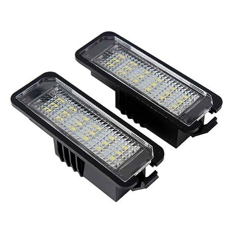 XuanL - Lámpara LED para matrícula de coche para VW Volkswagen ...