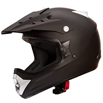 iv2 alto rendimiento Motocross/ATV/Dirtbike – Casco, color negro mate