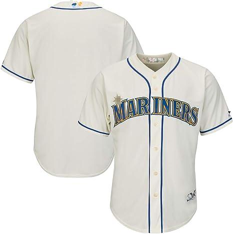 Camiseta de béisbol Personalizada de los Marineros, Camisa con Botones Personalizada, Bordada con el Nombre y el número de su Equipo, un Regalo de cumpleaños para los fanáticos: Amazon.es: Deportes y aire