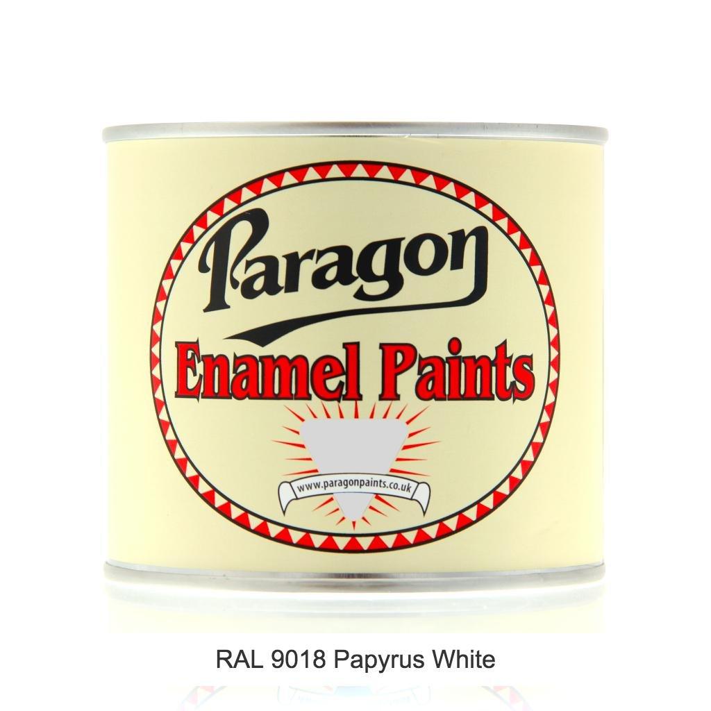 Paragon pintura, brillante, RAL 9018 papyrus blanco esmalte pintura, blanco: Amazon.es: Bricolaje y herramientas