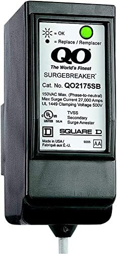 Square D by Schneider Electric QO2175SB QO SurgeBreaker Surge Protective Device Takes 2 Load Center Spaces Pack of 1