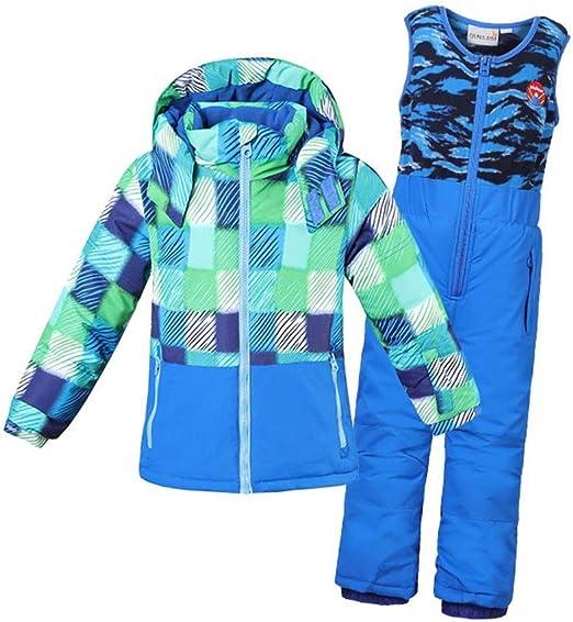 Kids Ski Jackets Hooded Snowsuit Waterproof Winter Outerwear for Winter Sports