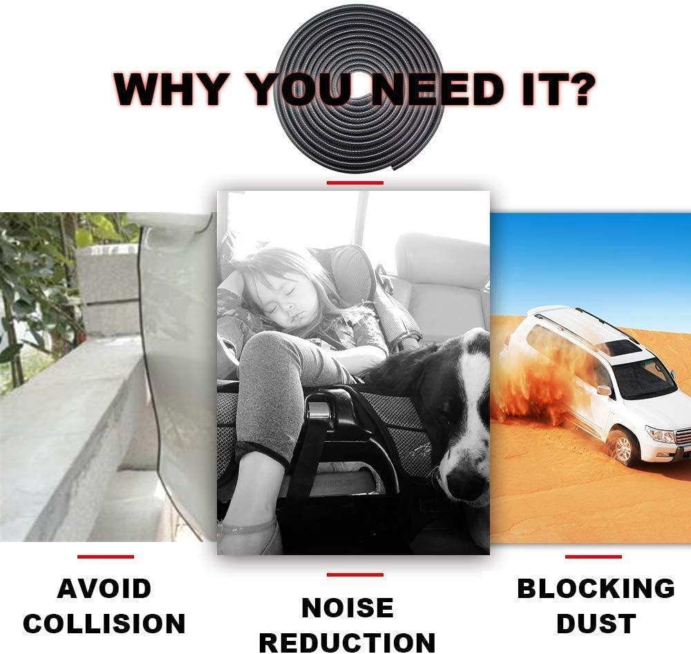 Bianco 5M Car Door Edge Guard U Forma Trim Protezione Protector Strip per auto Porte Windows