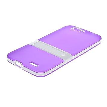 MOONCASE Huawei G7 Case Jelly color Funda Carcasa TPU Gel Tapa Case Cover para Huawei Ascend G7 Morado