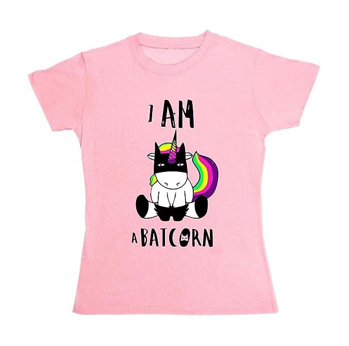 Saoye Fashion Camisetas Mujer Verano Elegante Tops Unicornio Impresión T-Shirt Niñas Ropa Manga Corta Cuello Redondo Casual Basicas Blusas Cartoon Camisas: ...