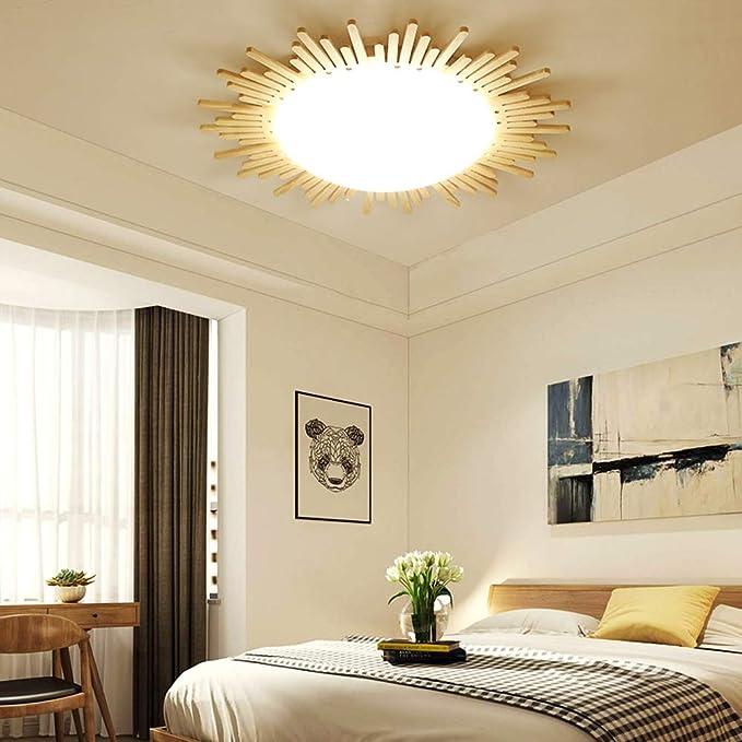 24W llevó el sol lámpara de techo redonda IKEA dormitorio sala lámpara estudio lámpara creativa lámpara japonesa: Amazon.es: Iluminación