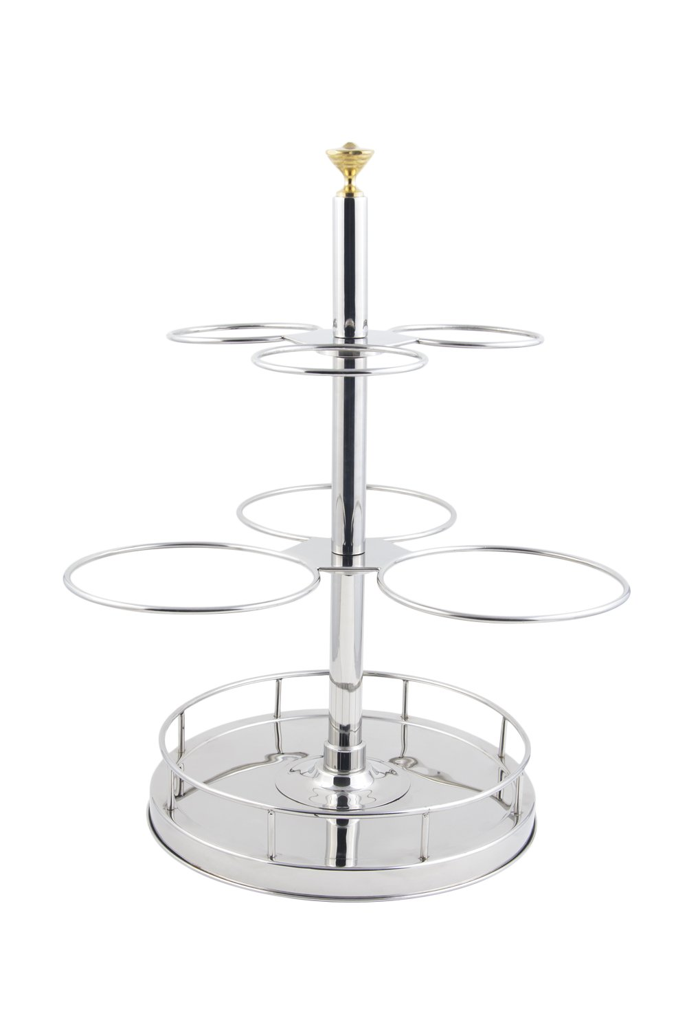 Bon Chef 61100 Stainless Steel Revolving Condiment Holder, 18'' Length x 18'' Width x 26-3/4'' Height