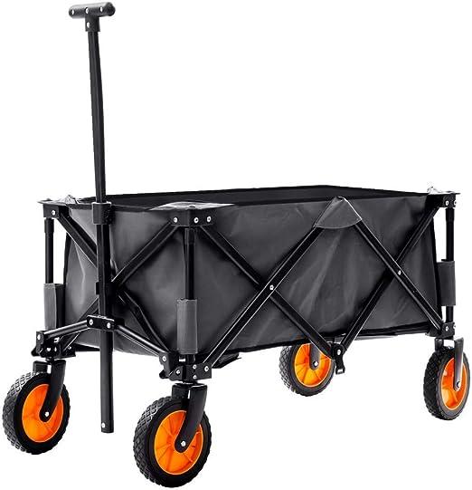 Famyfamy Carro de Jardín, Plegable Carro de Jardín Plegable Carreta Camión Carretilla, Exterior Utilidad Jardín Compras Cart Heavty Deber Camping Cart Tirar Along Carrito Gris: Amazon.es: Jardín