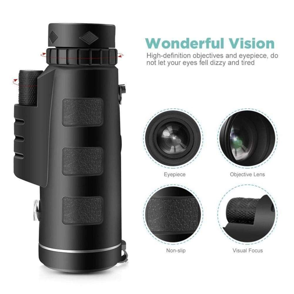KX-QIN Monocular Telescope for Adults,New Mini High Power Zoom Optical Monocular Telescopes Outdoor,Monocular Telescope High Power and,for Bird Watching Wildlife Camping Outdoor by KX-QIN