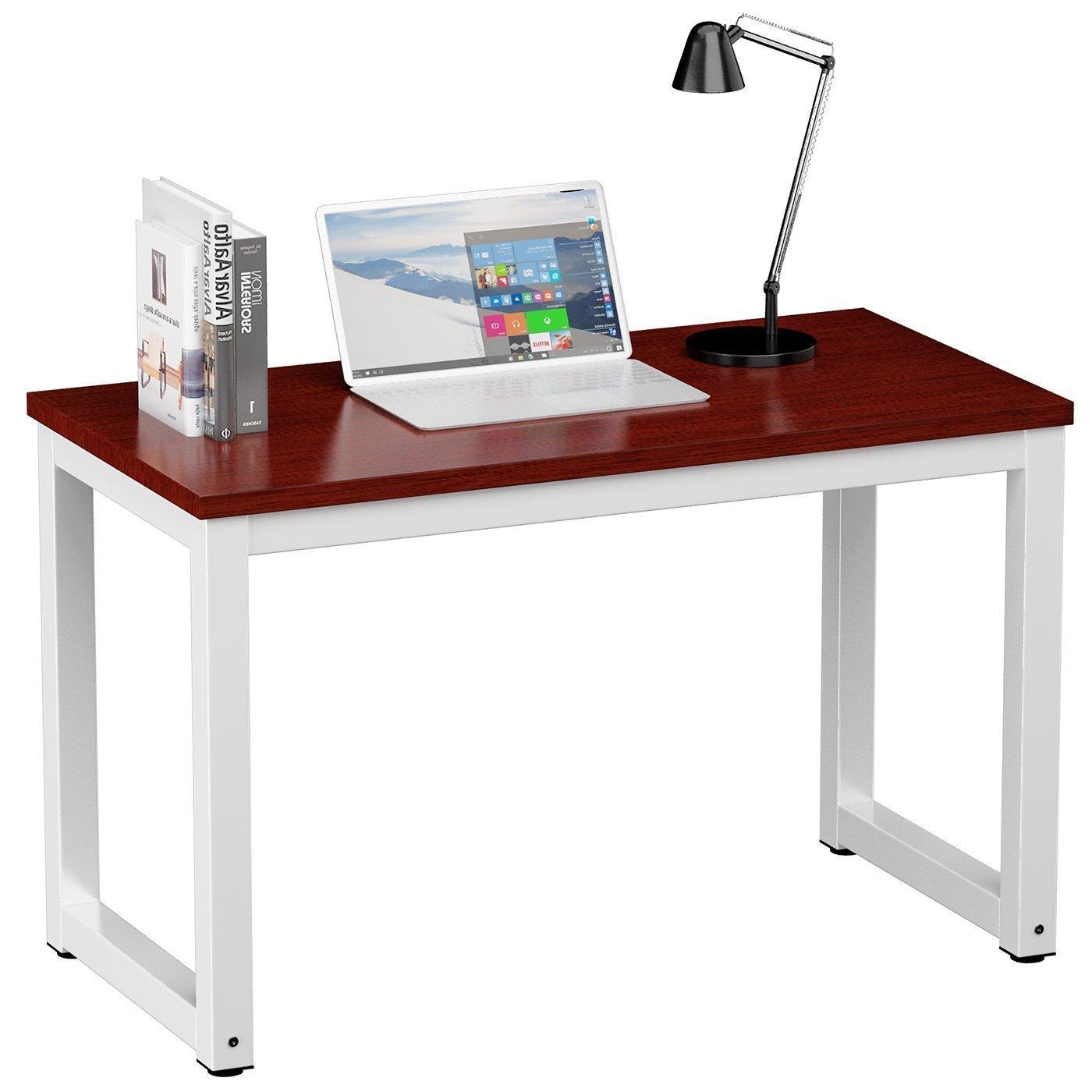 Bureau de bureau JL Comfurni pour bureau de jeux informatiques - meubles de bureau à domicile Table de style en bois