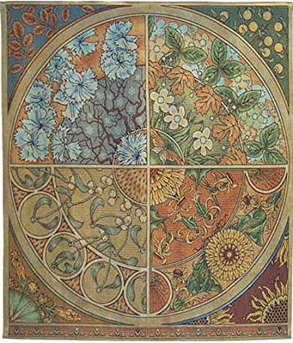 Seasonal Medallion Tapestry With Free Rod by J. Thomas - 51