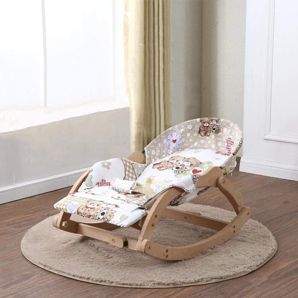 Koax solide Holz Chaiselongue Baby beruhigend St/ühle Kinder Schaukel Schaukelstuhl Wiege Bett schlafen Puppe-Artefakt CWLLWC Baby-Schaukelstuhl