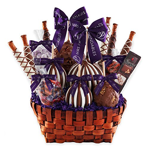 Mrs. Prindable's Premium Signature Deluxe Caramel Apple Basket Gift Set by Mrs. Prindable's