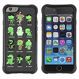 "A-type Arte & diseño Anti-Slip Shockproof TPU Fundas Cover Cubre Case para 4.7"" iPhone 6 ( Funny Cthulhu Creatures Illustration )"