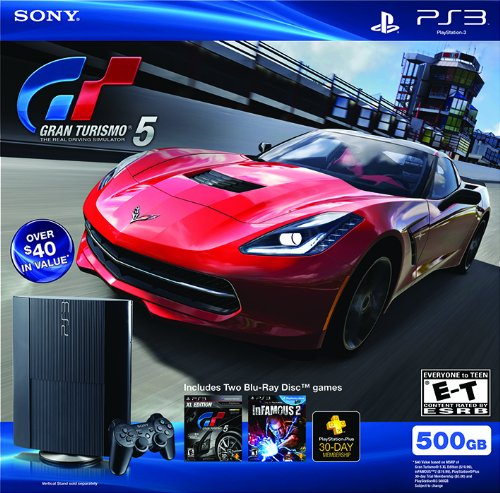 PS3 500 GB Gran Turismo 5 Legacy Bundle (3750 Cables)