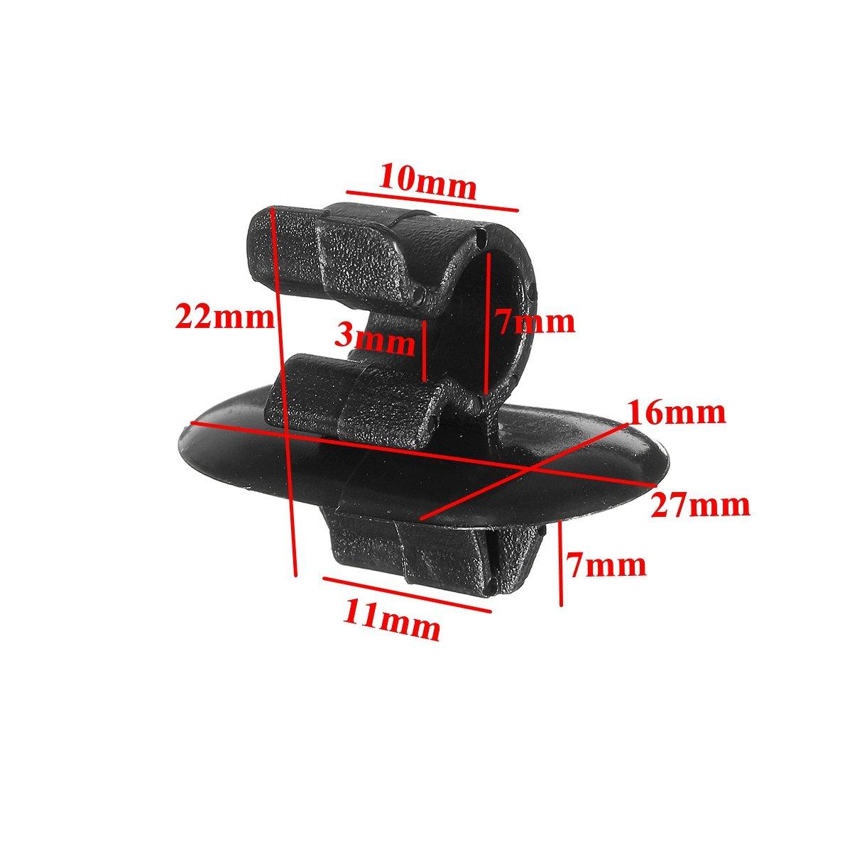 YONGYAO Zwei Pcs Motorhaubenhalter Clips aus Kunststoff f/ür Citroen f/ür Peugeot Vauxhall Vivaro