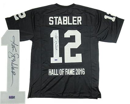 ecd384af Ken Stabler Autographed Jersey - Black Custom Home Hall of Fame ...