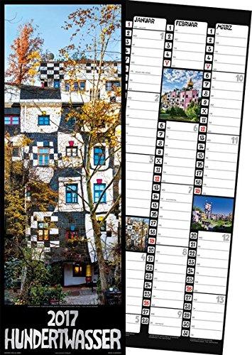 Hundertwasser Streifenkalender Architektur 2017