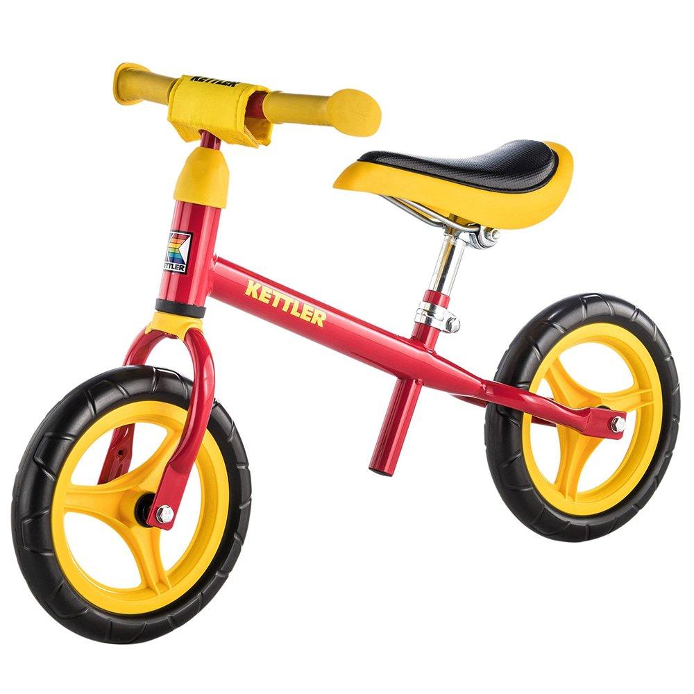 Kettler Laufrad Speedy 2.0 – das verstellbare Lauflernrad – Kinderlaufrad mit Reifengröße: 10 Zoll – stabiles & sicheres Laufrad ab 2 Jahren – rot & gelb 0T04015-0090