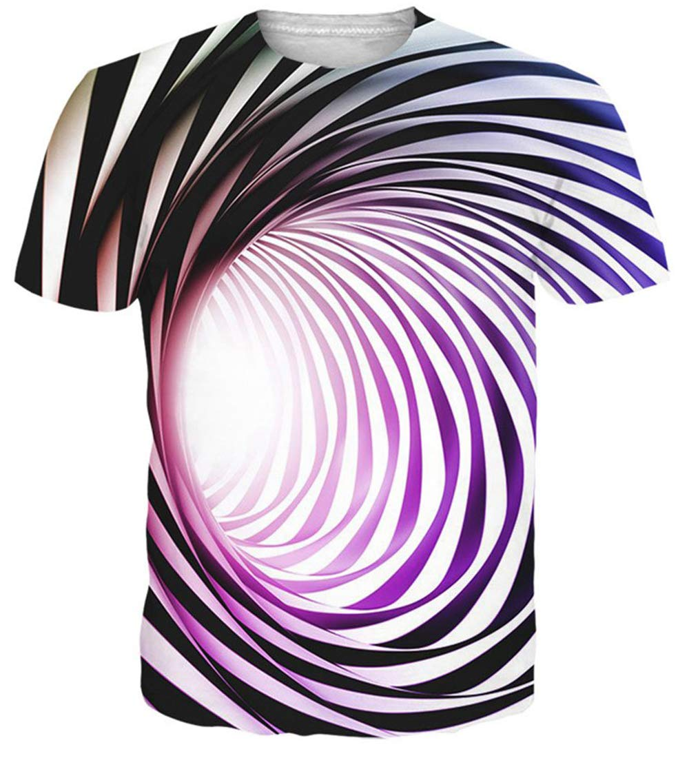 NEWISTAR Unisex 3D Printed Cool Short Sleeve Hipster Novelty Tee Shirts Tees Clothes