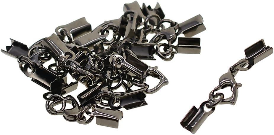 D DOLITY 12 Pi/èces Sertissage Homard Cordon Extr/émit/és Connecteurs Perles Fin Bricolage Bracelet Collier Argent