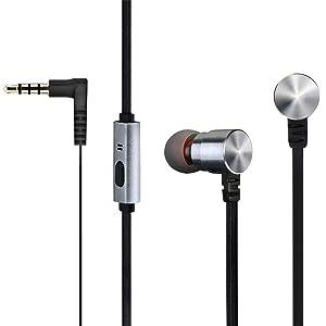 Mpow Auricolari con Filo 3.5mm Vivavoce Cuffie con Microfono con Doppio Alroparlante Stereo, per iPhone 6s / 6s plus / 6 plus / 6 / 5s / 5c / 5 / 4s / 4, iPod / iPod Touch, iPad, Samsung Galaxy S6 / S6 Edge+ / S6 Edge / S5 / S4 / S3, Lumia, Huawei, Sony e altri Smartphone / Tablet / MP3 / Dispositivi iOS o Android, Nero