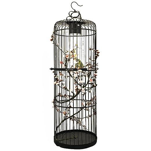 DGEG Lámpara de pie estándar Vintage Creativo Jaula de pájaros ...