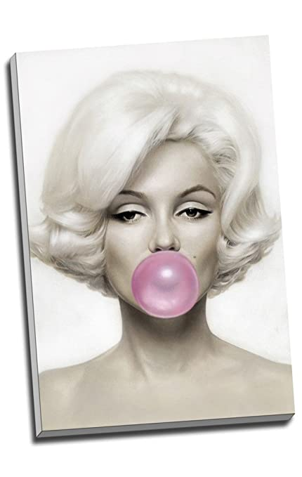 Marilyn Monroe Pink Bubble Gum Canvas Print Wall Art Picture Canvas ...