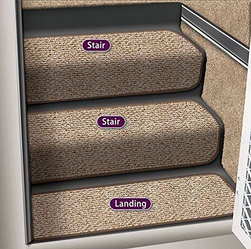 Prest-O-Fit 5-1092 Decorian Step Huggers For RV Landings Butter Pecan Brown 8 In. x 23.5 In. by Prest-O-Fit