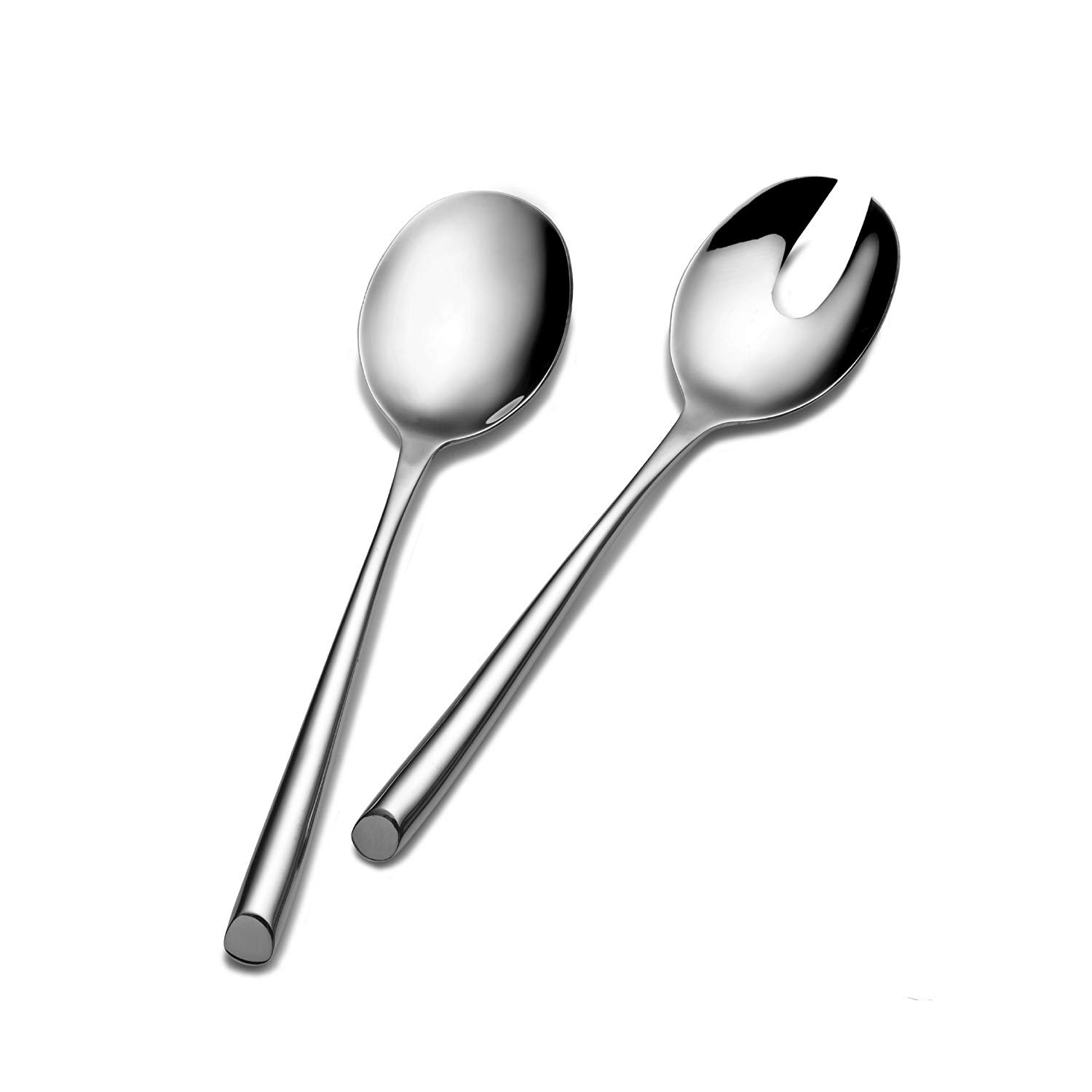 HomeExpress 2-Piece 11 Inch Heavy Duty 18/10 Stainless Steel Salad Spoon Fork Serving Set