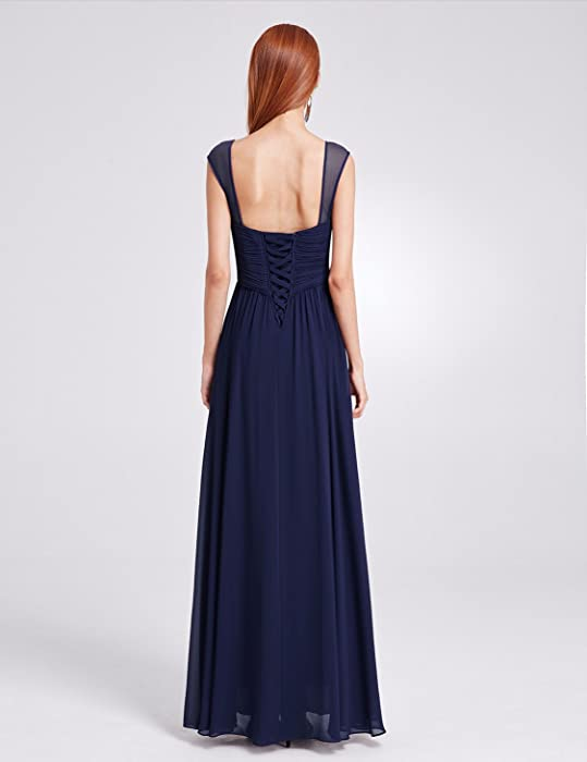 6ccfb7a80bf Ever-Pretty Womens Elegant Long Chiffon Bridesmaid Dress with Corset ...
