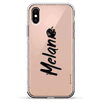 Name: Melanie, Hand-Written Style | Luxendary Air Series Clear Silicone Case with 3D Printed Design and Air-Pocket Cushion Bumper for iPhone X/Xs