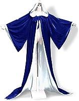 amazon com angelwardrobe wizard robe velvet hood cloak wicca larp
