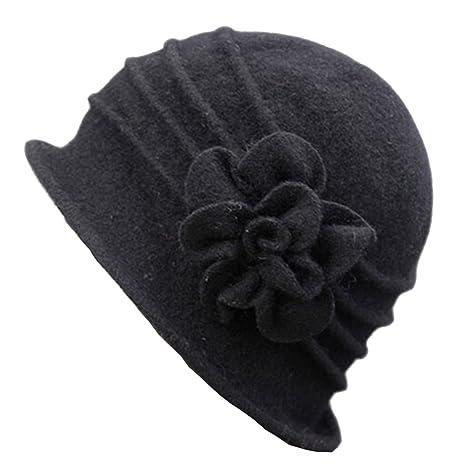 ZUMUii Butterme Sombrero de Invierno para Mujer, Elegante, Lana ...