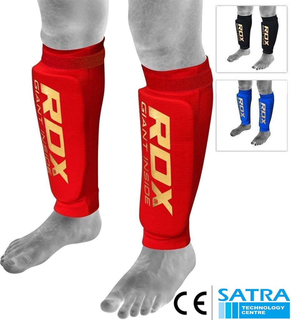 RDX Prot/ège Tibia Boxe MMA Kick Boxing Muay Thai Karate CE Certifi/é Approuv/é par SATRA