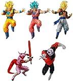 DRAGON BALL SUPER Complete Set 5 FIGURES Battle Figures SERIES 04 Bandai Gashapon DRAGONBALL