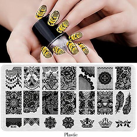 Generic China BC09 BC Nail Stamping Plates Plastic Nails Art Stamp Templates