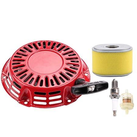 Amazon.com: HIPA GX 160 Recoil Starter + filtro de aire para ...