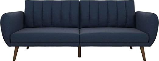 Amazon Com Blue Durable Couch Futon Couch Sofa With Storage
