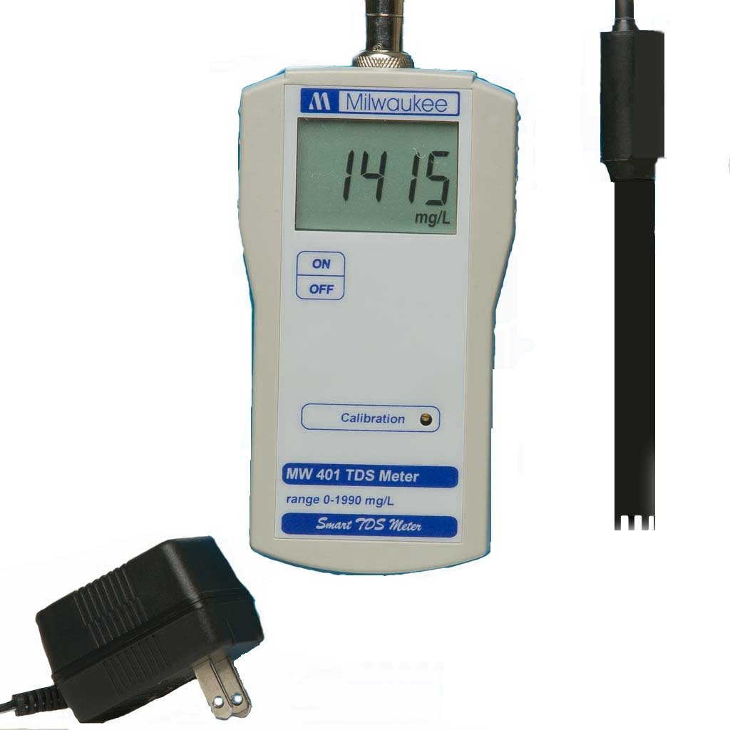 Milwaukee BEM401 TDS Meter with 110V Power and Mounting Kit, 0 to 1990 ppm Range by Milwaukee