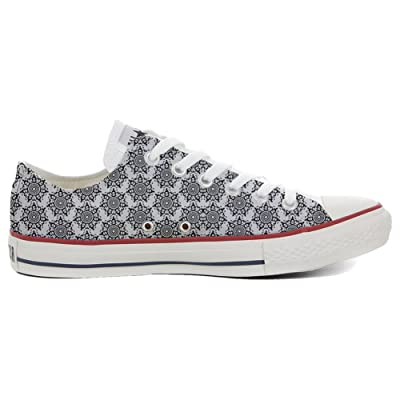 Converse All Star Slim Chaussures Coutume Mixte Adulte (Produit artisanalPersonnalisé) Back Groud Abstract