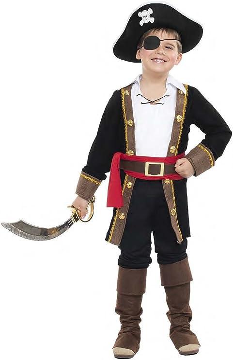 Disfraz Pirata Casaca Niño Color Negro Talla 3-4 Años Tamaño ...