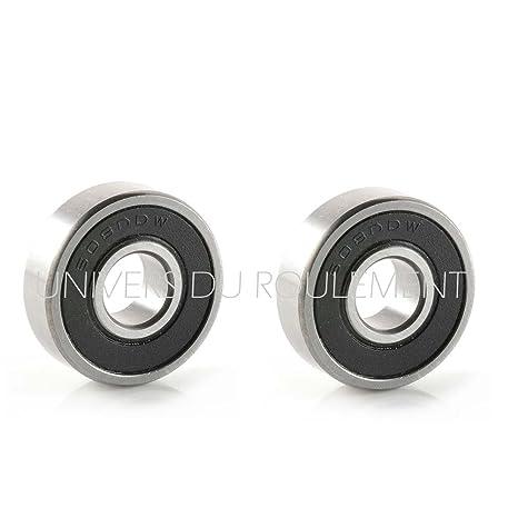 608 2RS - Rodamiento de bolas, 8 x 22 x 7 mm, acero, 2 ...