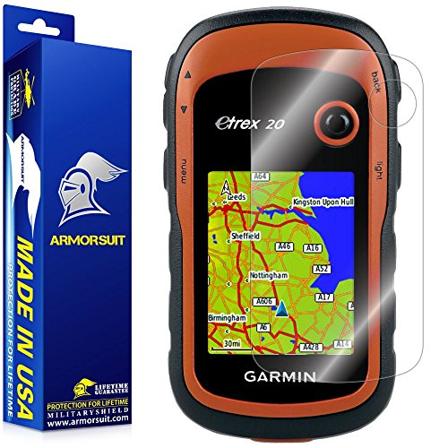 ArmorSuit MilitaryShield - Garmin eTrex GPS Screen Protector Anti-Bubble Ultra HD - Extreme Clarity & Touch Responsive with Lifetime Replacements Warranty - Retail Packaging