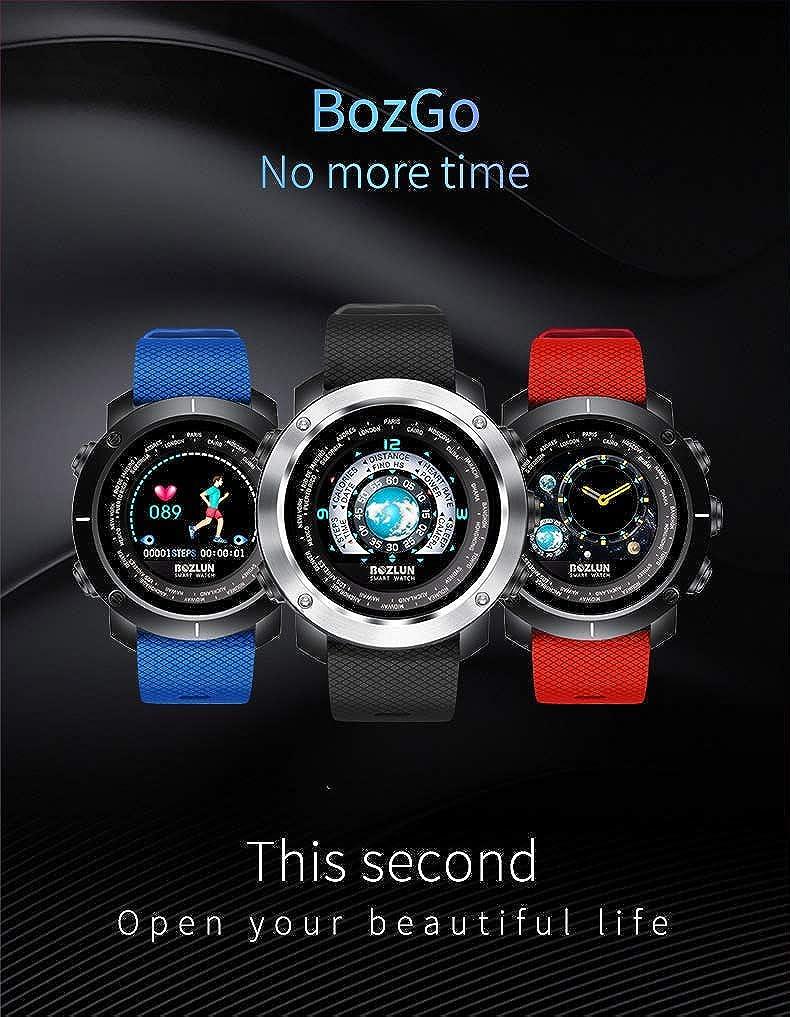 Bluetooth Smartwatch Activity Tracker con cardiofrequenzimetro per uomo Contapassi impermeabile IP67, Polsino fitness per uomo per IOS Android C