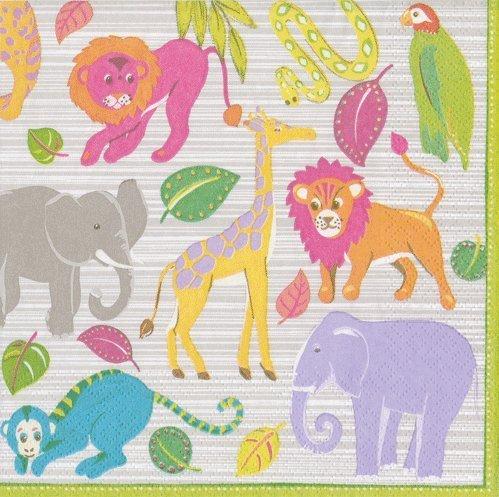 (Jungle Theme Baby Shower Baby First Birthday Paper Napkins Lunch Dessert Pk 40)