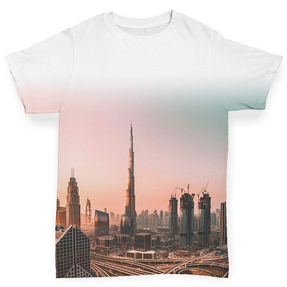 TWISTED ENVY All-Over Print Baby T-Shirt Dubai Skyline Sunset