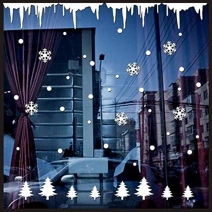 Jaysis Stickers Noel Pour Fenêtre Décoration De Noël Autocollant
